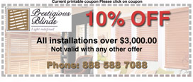 discounts off blinds installations
