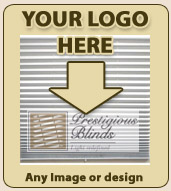 put your company logo on  window shades blinds